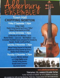 Adderbury Ensemble Concerts @ Chipping Norton Town Hall